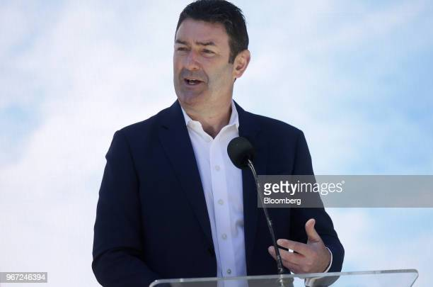 Steve Easterbrook chief executive officer of McDonald's Corp speaks during the opening of the company's new headquarters in Chicago Illinois US on...