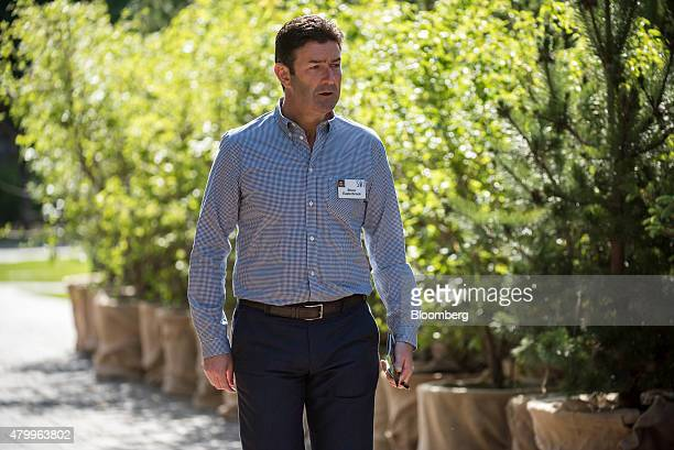 Steve Easterbrook chief executive officer of McDonalds Corp walks the grounds after a morning session during the Allen Co Media and Technology...