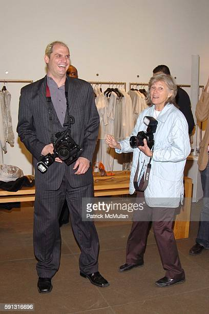 Steve Eichner and Mary Hilliard attend Calvin Klein hosts a party to celebrate Bryan Adams' new photo book American Women to benefit The Society of...