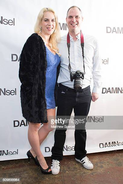 Steve Eichner Daniela Kirsch attend Damnsel 'Garmeoplasty' presentation during Fall 2016 New York Fashion Week on February 12 2016 in New York City