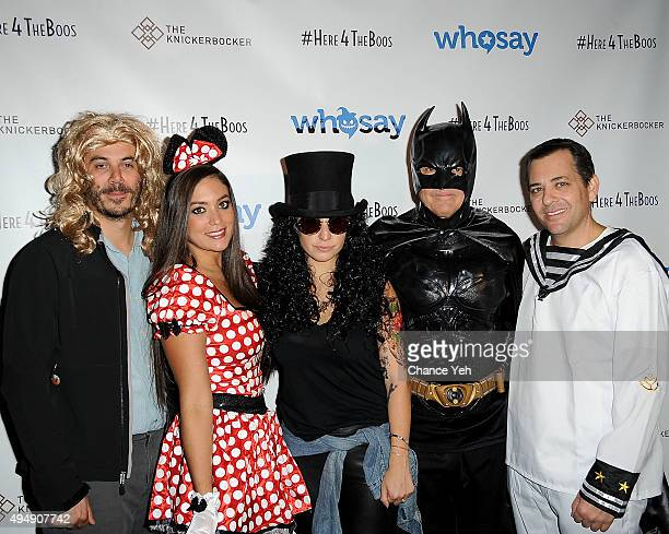 Steve Ellis Sammi 'Sweetheart' Giancola Jenna Colombini Rob Gregory and Harvey Scwartz attend WhoSays #HereForTheBoos Halloween costume party at the...