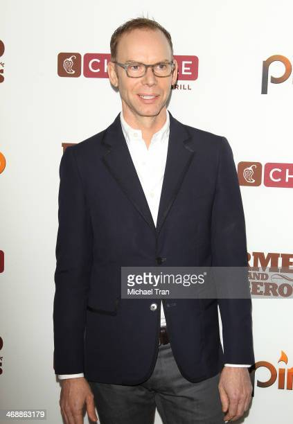 Steve Ells arrives at the Chipotle world premiere of original comedy web series Farmed And Dangerous held at DGA Theater on February 11 2014 in Los...