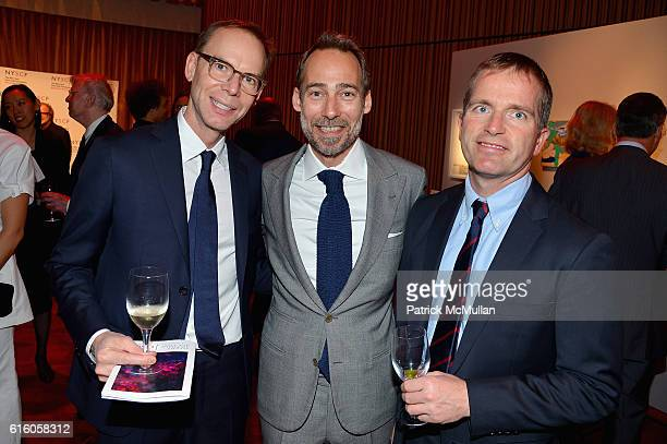 Steve Ells Piero Incisa and Ron Englert attend The NYSCF Gala Science Fair at Jazz at Lincoln Center on October 20 2016 in New York City