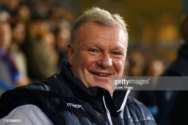 Steve Evans, Manager of Gillingham looks on prior to the FA Cup Third Round match between Gillingham FC and West Ham United at MEMS Priestfield...
