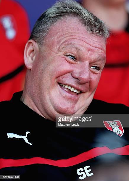 Steve Evans manager of Rotherham United during the Pre Season Friendly match between Rotherham United and Nottingham Forest at The New York Stadium...