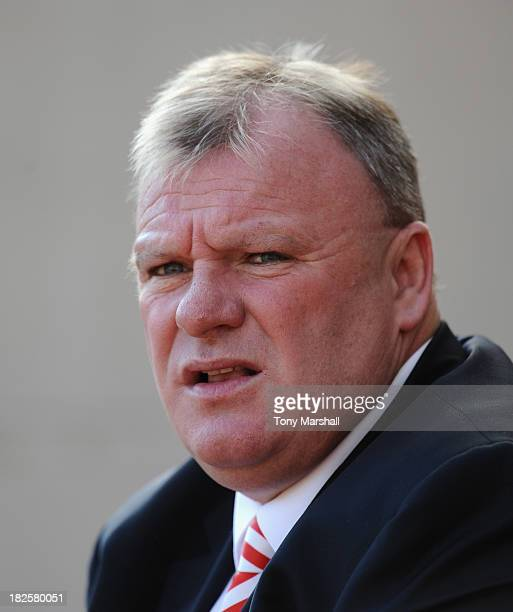 Steve Evans manager of Rotherham Unitedon the bench during the Sky Bet League One match between Rotherham United and Peterborough United at The New...