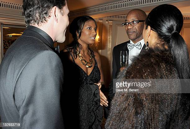 Steve Finan Denise Lewis Ed Moses and Michelle Moses attend the Cartier Racing Awards 2011 at The Dorchester Hotel on November 15 2011 in London...
