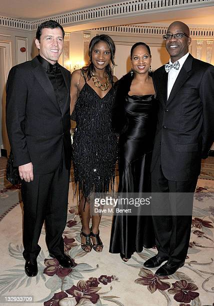 Steve Finan Denise Lewis Michelle Moses and Ed Moses attend the Cartier Racing Awards 2011 at The Dorchester Hotel on November 15 2011 in London...