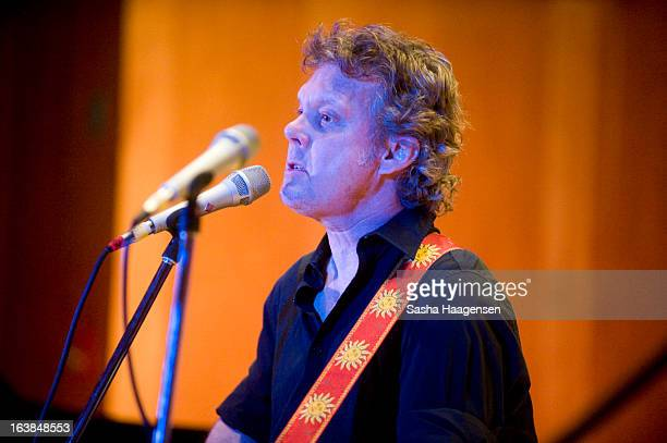 """Steve Forbert performs at The Grammy Museum's """"Musical Milestones: 50 Years of The Beatles"""" showcase during SXSW at Bethel Hall at St. David's Church..."""