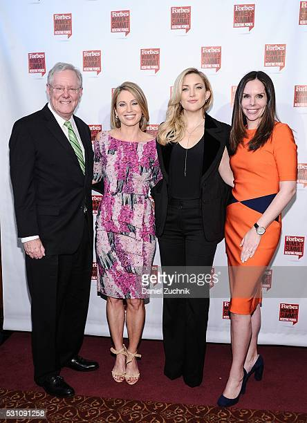 Steve Forbes Amy Robach Kate Hudson and Moira Forbes attend the 2016 Forbes Women's Summit on May 12 2016 in New York New York