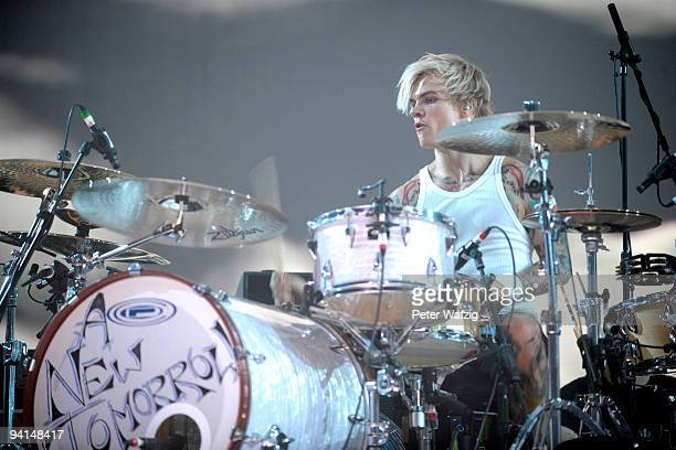 Steve Forrest of Placebo performs on stage at the LanxessArena on December 4 2009 in Cologne Germany