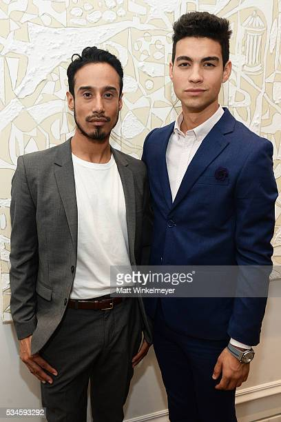 Steve Galindo and Davi Santos attend the 1 Year Anniversary of Kimora Lee Simmons' Beverly Hills boutique on May 26 2016 in Beverly Hills California