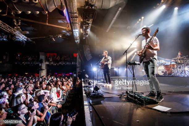 Steve Garrigan, Jason Boland and Vinny May of Kodaline perform in concert at Razzmatazz on October 26, 2018 in Barcelona, Spain.
