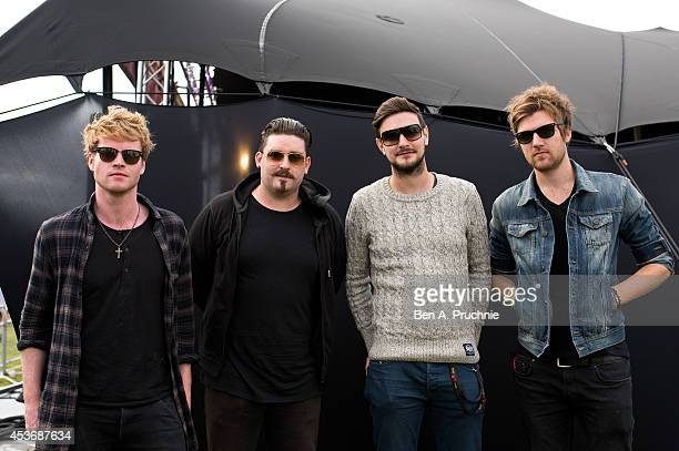 Steve Garrigan Jason Boland Vinny May and Mark Prendergast of Kodaline pose of photographs on Sony's Xperia Access acoustic stage in the Virgin Media...