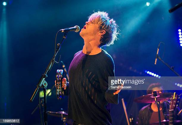 Steve Garrigan of Kodaline performs live on stage as part of MTV Brand New at the Electric Ballroom on January 21, 2013 in London, England.