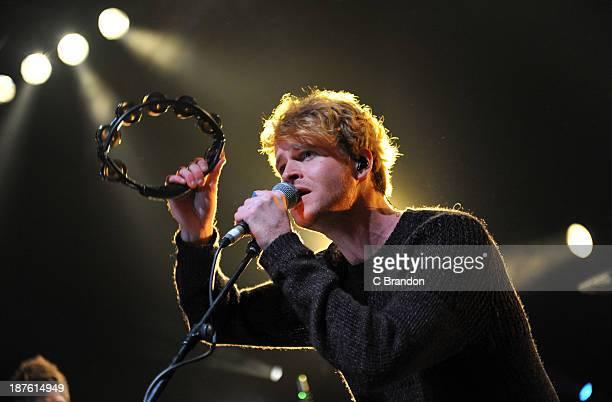 Steve Garrigan of Kodaline performs on stage at Shepherds Bush Empire on November 10, 2013 in London, United Kingdom.