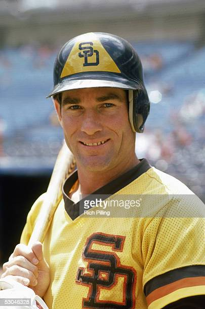 Steve Garvey of the San Diego Padres poses for a portrait before a game