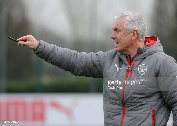 Steve Gatting Arsenal U23 Manager during the match between Arsenal U23 and Tottenham Hotspur U23 at London Colney on March 3 2017 in St Albans England