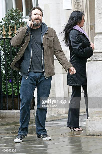 Steve Gibb and his mother Linda Gibb are seen on April 09 2012 in London United Kingdom