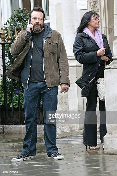 Steve Gibb and his mother Linda Gibb are seen on April 09, 2012 in London, United Kingdom.