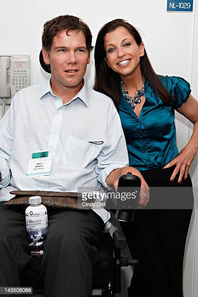 Steve Gleason and Wendy Diamond attend the Social Innovation Summit 2012 at United Nations Plaza on May 31 2012 in New York City