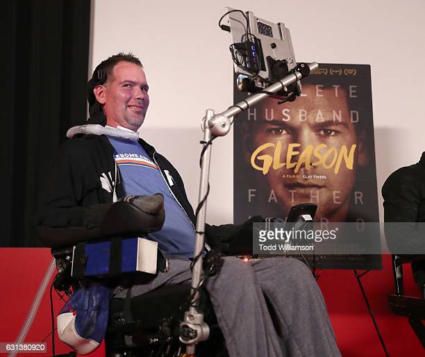 Steve Gleason attends a Cocktail Reception to Celebrate GLEASON on January 9 2017 in Los Angeles California