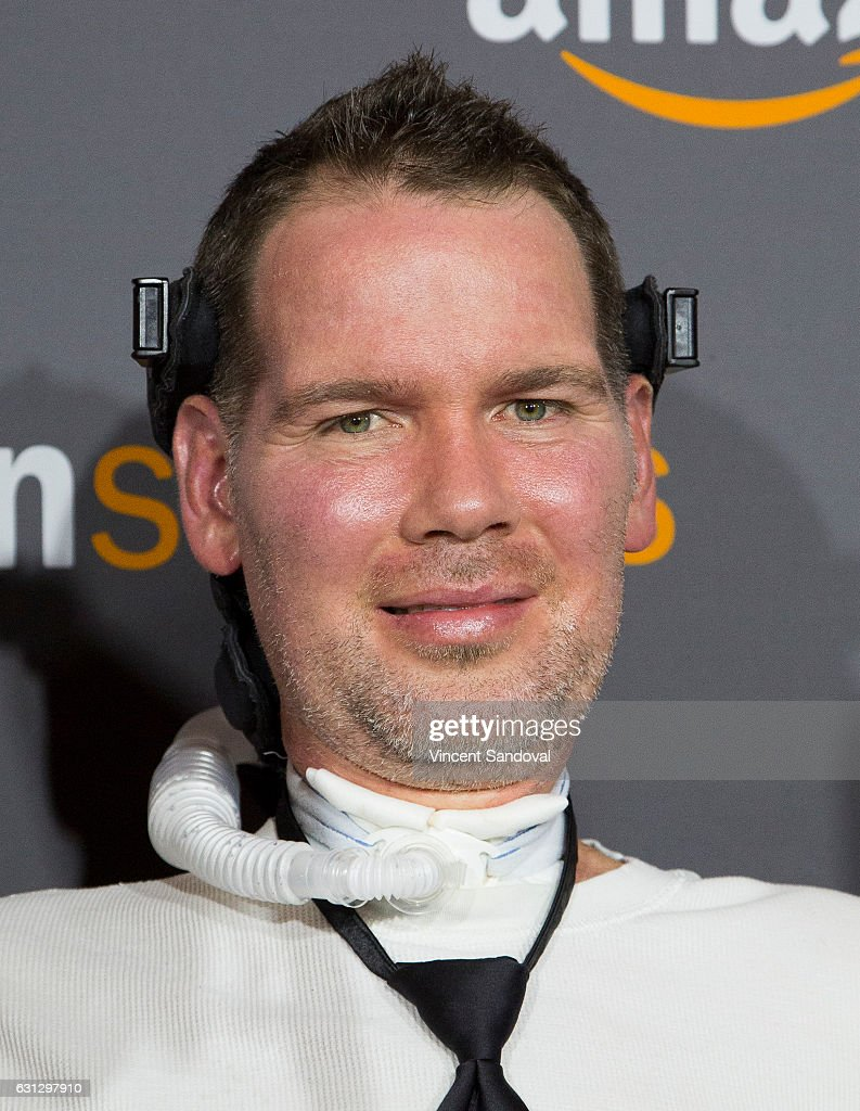 Elegant Steve Gleason Attends Amazon Studios Golden Globes Party At The Beverly  Hilton Hotel On January 8