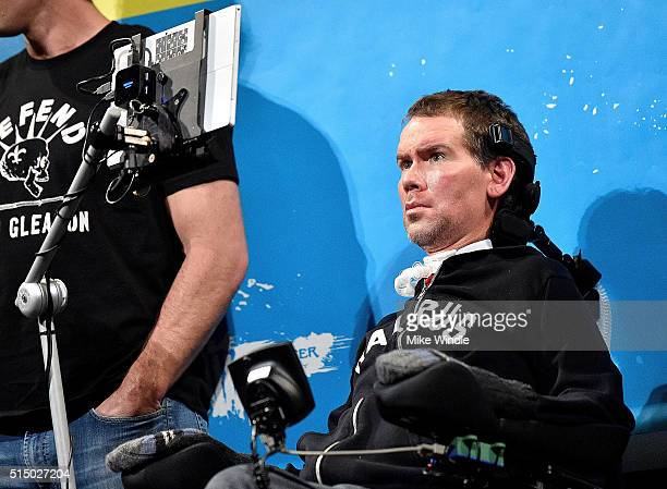 Steve Gleason attends the screening of Gleason during the 2016 SXSW Music Film Interactive Festival at Paramount Theatre on March 11 2016 in Austin...