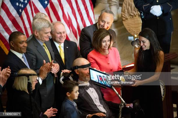 Steve Gleason is honored during the Congressional Gold Medal Ceremony on Wednesday Jan 15 2020