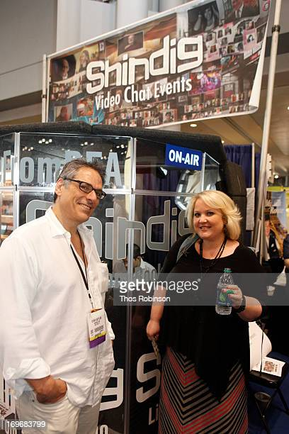 Steve Gottlieb, founder & CEO, Shindig and author Abbi Glines attend Shindig Hosts Live Video Chats with over Fifty Authors at BookExpo America 2013...