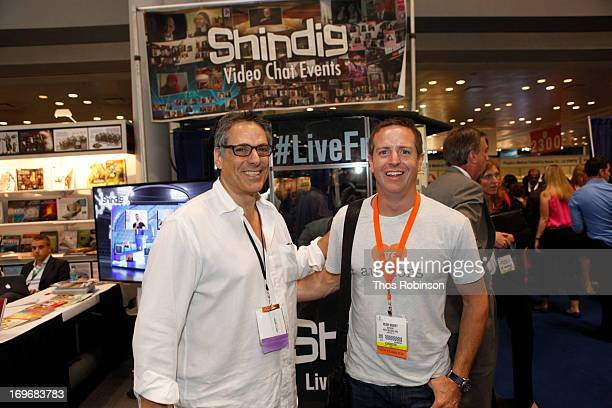 Steve Gottlieb, founder & CEO, Shindig and author Hugh Howey attend Shindig Hosts Live Video Chats with over Fifty Authors at BookExpo America 2013...