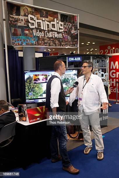 Steve Gottlieb, founder & CEO, Shindig attends Shindig Hosts Live Video Chats with over Fifty Authors at BookExpo America 2013 at Jacob Javitz Center...