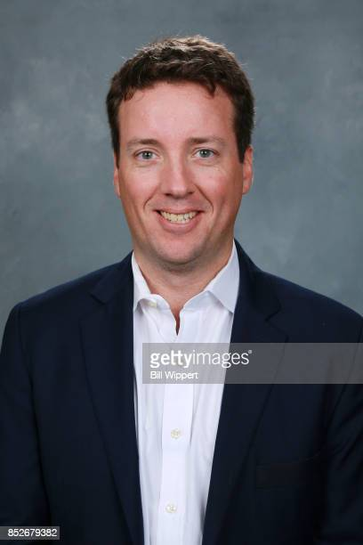 Steve Greeley of the Buffalo Sabres poses for his official headshot for the 20172018 season on September 14 2017 at the KeyBank Center in Buffalo New...