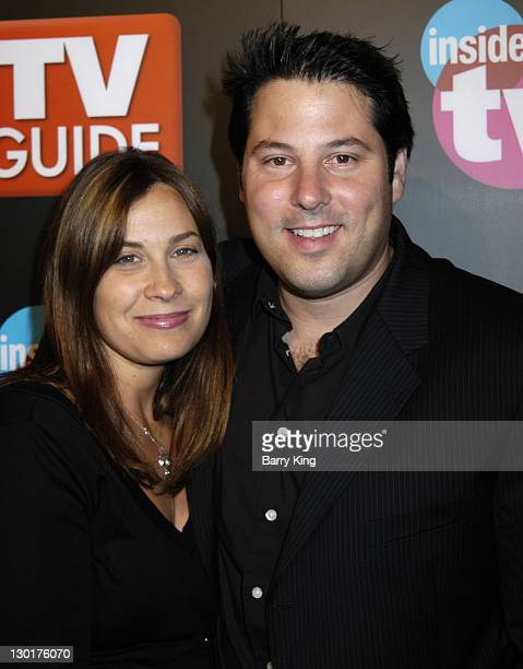 Steve Grunberg and Elizabeth during The 57th Annual Emmy Awards TV Guide and Inside TV After Party Arrivals at Hollywood Roosevelt Hotel in Hollywood...