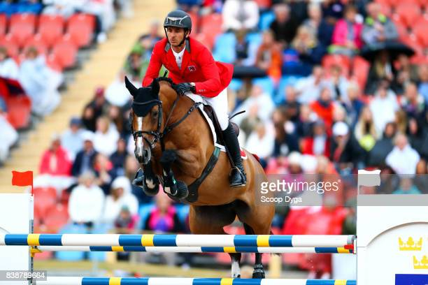 Steve Guerdat riding Bianca during Nations Cup First Round of the Equestrian European Championships on August 24 2017 in Gothenburg Sweden