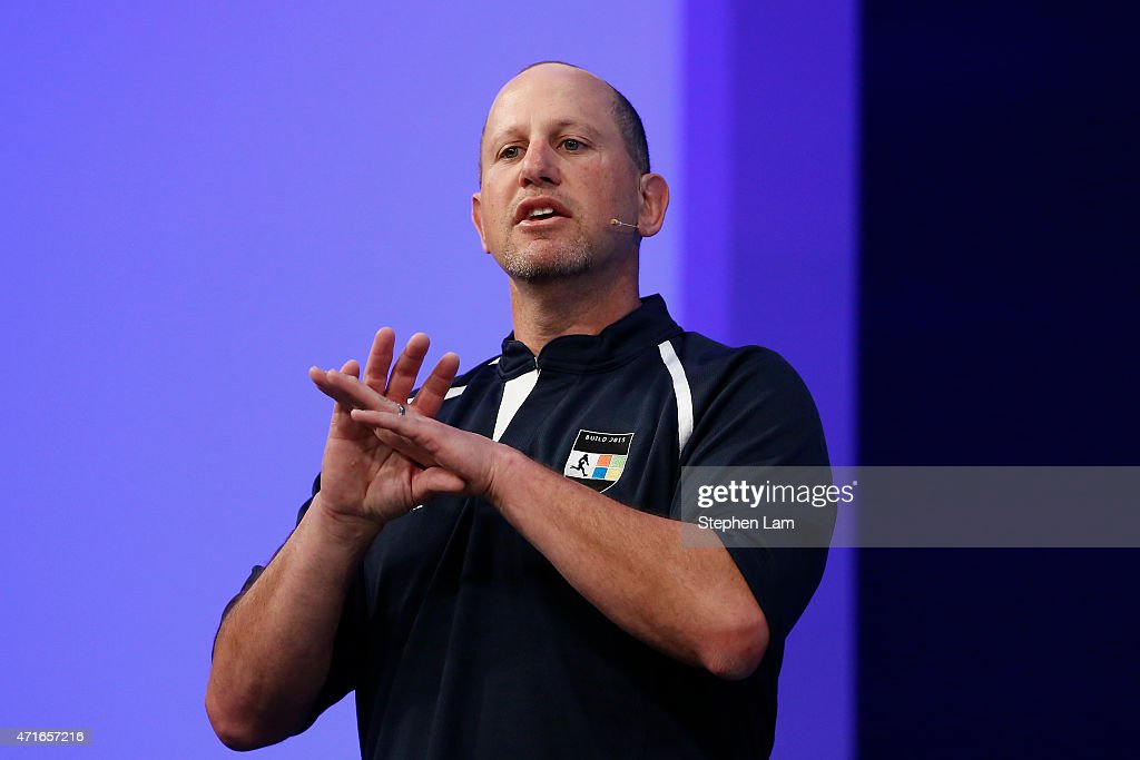 Steve Guggenheimer, corporate vice president and chief evangelist at Microsoft, speaks on stage during the 2015 Microsoft Build Conference on April 30, 2015 at Moscone Center in San Francisco, California. Thousands are expected to attend the annual developer conference which runs through May 1.