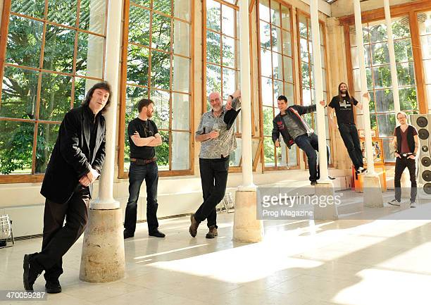 Steve Hackett Mike Holmes Fish John Mitchell James Monteith and Tim Elsenburg photographed as part of a roundtable discussion on contemporary...