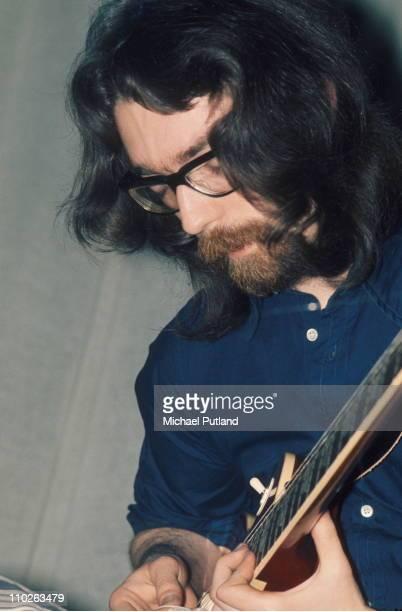 Steve Hackett of Genesis performs on stage London 1971
