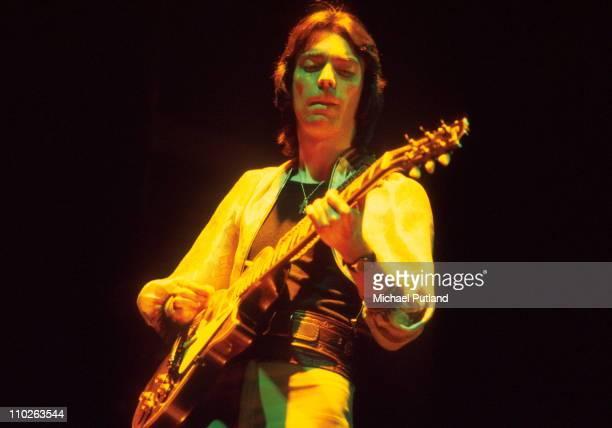 Steve Hackett of Genesis performs on stage London 1975