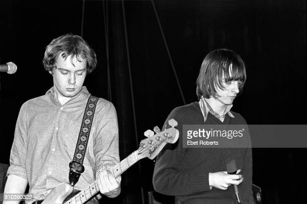 Steve Hanley and Mark E Smith performing with The Fall at the Palladium in New York City on December 1 1979