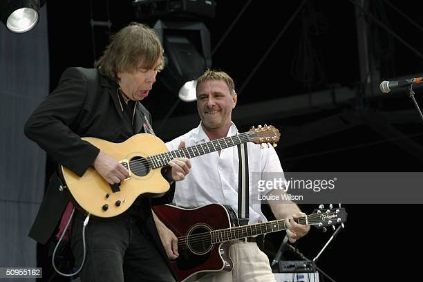 Steve Harley Cockney Rebel perform onstage on day two of The Nokia Isle of Wight Festival 2004 at Seaclose Park on June 12 2004 in Newport England...
