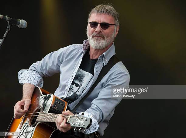 Steve Harley of Steve Harley and the Cockney Rebel's performs on stage on Day 4 of Isle Of Wight Festival 2013 at Seaclose Park on June 16 2013 in...
