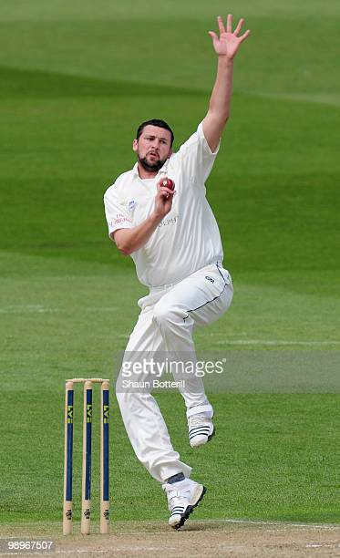Steve Harmison of Durham bowls during the LV County Championship match between Nottinghamshire and Durham at Trent Bridge on May 11 2010 in...