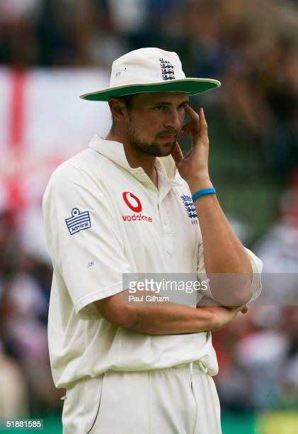 Steve Harmison of England looks on during day four of the first Test Match between South Africa and England at St. Georges Park on December 20, 2004...