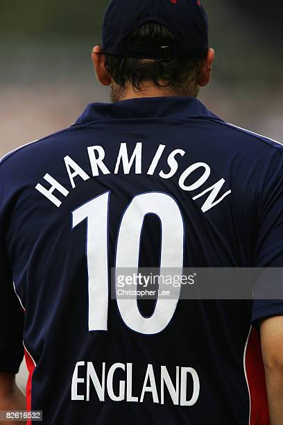 Steve Harmison of England wears the number 10 shirt during the Fourth NatWest One Day International between England and South Africa at Lord's on...