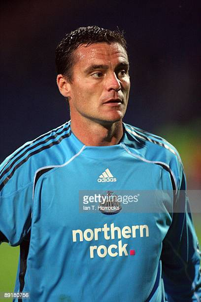 Steve Harper in action during a preseason friendly match between Huddersfield Town and Newcastle United at the Galpharm Stadium on July 21 2009 in...