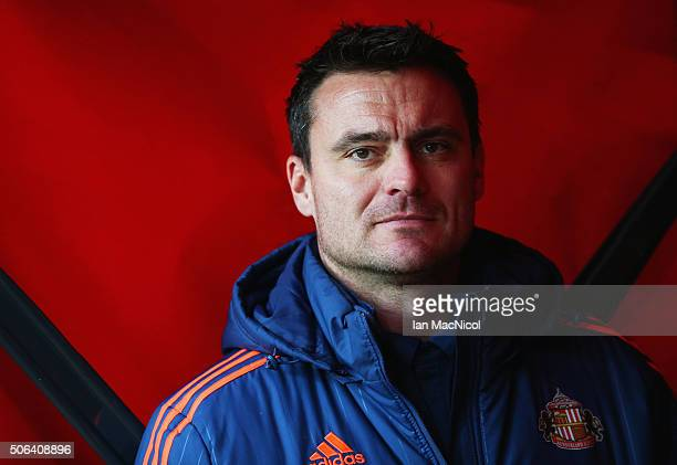 Steve Harper is seen in the tunnel prior to the Barclays Premier League match between Sunderland and AFC Bournemouth at the Stadium of Light on...