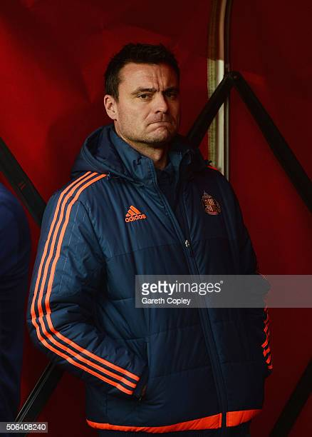 Steve Harper is seen prior to the Barclays Premier League match between Sunderland and AFC Bournemouth at the Stadium of Light on January 23 2016 in...