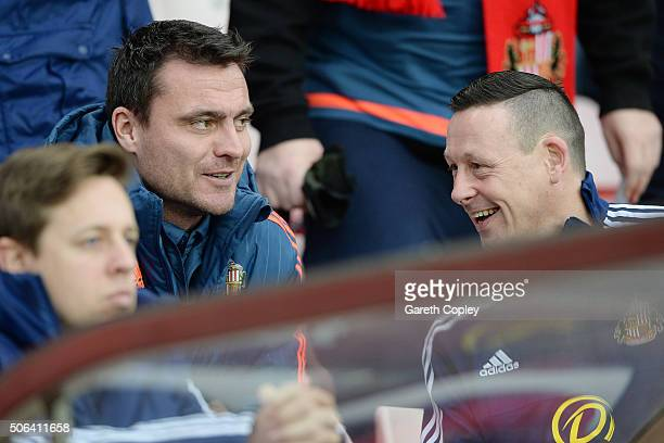 Steve Harper of Sunderland looks on prior to the Barclays Premier League match between Sunderland and AFC Bournemouth at the Stadium of Light on...
