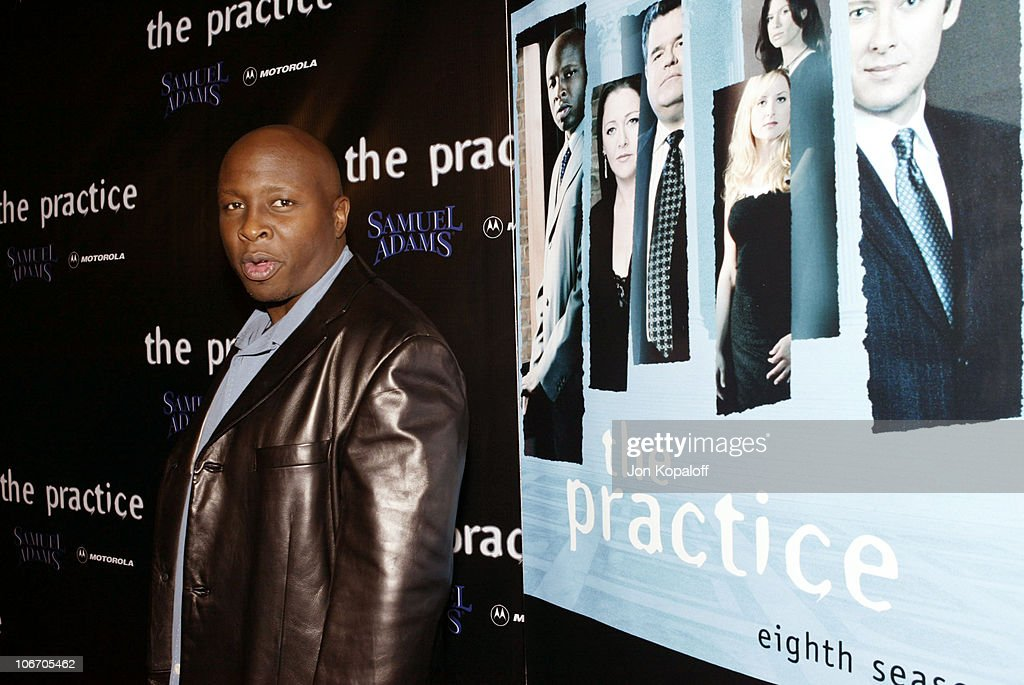 Steve Harris during David E. Kelley and the cast of ABC's hit drama, 'The Practice,' celebrate the launch of their eighth season at The Buffalo Club in Santa Monica, California, United States.